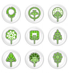 ecology tree icons vector image vector image