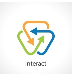 interact vector image