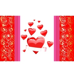 realistic heart vector image vector image