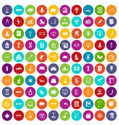 100 balance icons set color vector