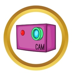 Action video digital camera icon vector image