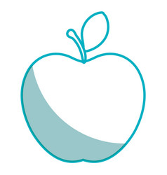 Apple fruit fresh isolated icon vector