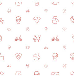baby icons pattern seamless white background vector image
