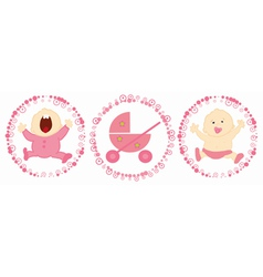 baby labels vector image