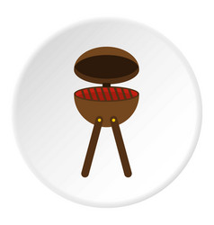 Bbq party grill icon circle vector
