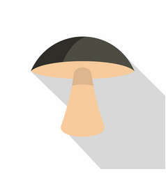 birch mushroom icon flat style vector image
