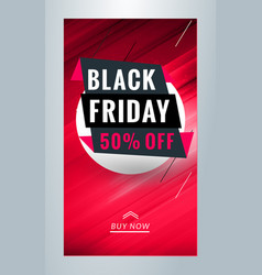 black friday sale promotion editable templates vector image