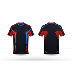 588f8219 Black orange and blue layout e-sport t-shirt vector ...