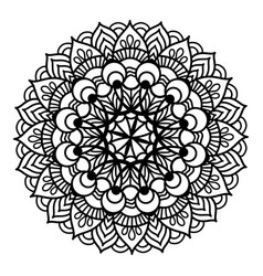 Black pattern flower mandala vector