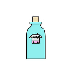 bottle of milk food thin line icon vector image