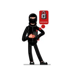 Burglar try to huck vector