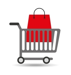 buying cart bag present design vector image