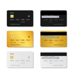 card credit mockup plastic debit set vector image