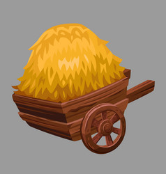 Cart with hay vector