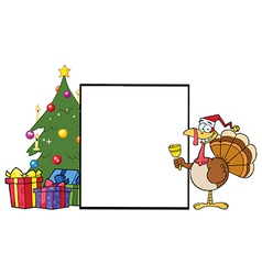 Chirstmas turkey cartoon vector image