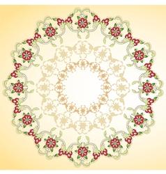 Circular floral background vector