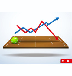 Concept of statistics about the game of tennis vector image