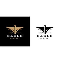 Eagle crest logo icon vector