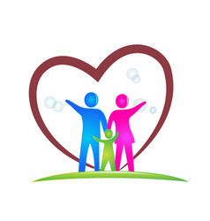 Family love logo design vector