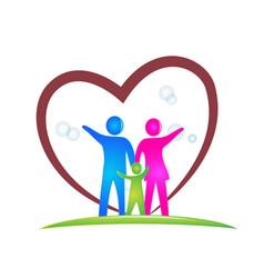 family love logo design vector image