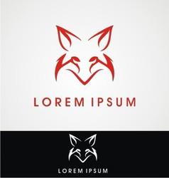 Fox logo design vector