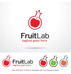 Fruit lab logo template vector
