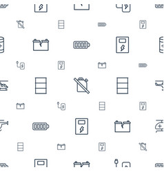 fuel icons pattern seamless white background vector image