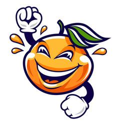Funny cartoon mandarin character vector