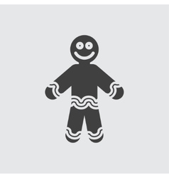 Ginger bread icon vector