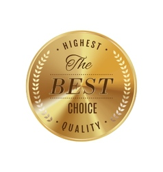 Golden badge best choice vector image