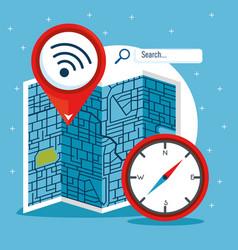 gps navigation concept vector image