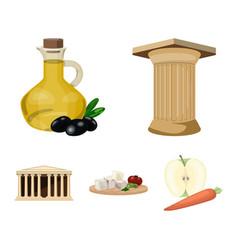 greece country tradition landmark greece set vector image
