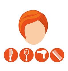 Hairdressing service design vector