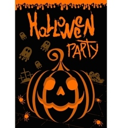 helloween party poster black vector image