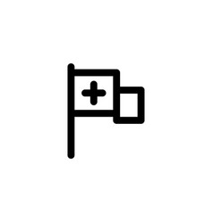 hospital flag icon vector image