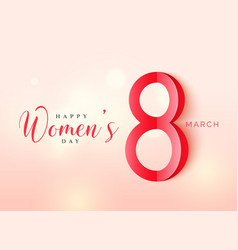 International womens day poster design in origami vector
