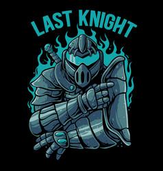 Knight warrior robot vector