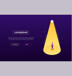 leadership concept - modern isometric web vector image