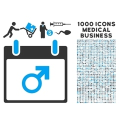 Mars Male Symbol Calendar Day Icon With 1000 vector