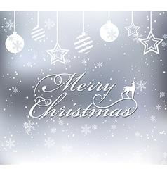Merry Christmas on snow background vector