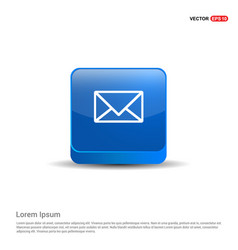message - 3d blue button vector image