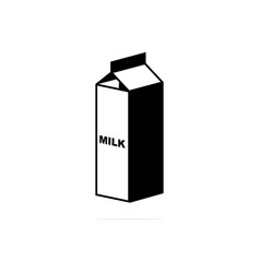 milk box icon concept for design vector image
