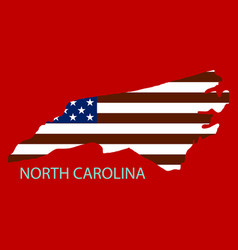 North corolina state of america with map flag vector