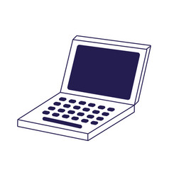 open laptop computer device technology icon vector image