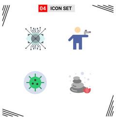 Pack 4 creative flat icons ar murderer eye vector