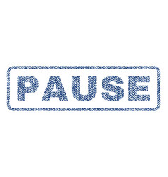 Pause textile stamp vector