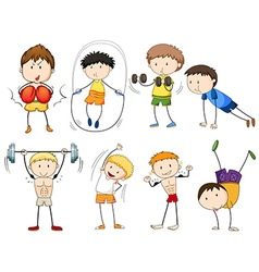 People doing different types of sports vector