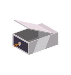 safe deposit strongbox key empty vector image