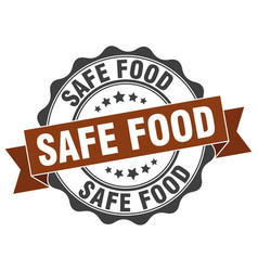 Safe food stamp sign seal vector