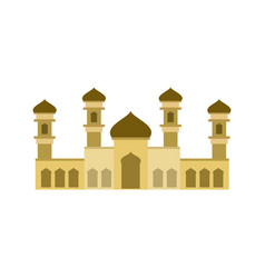 sand color islamic mosque building design vector image